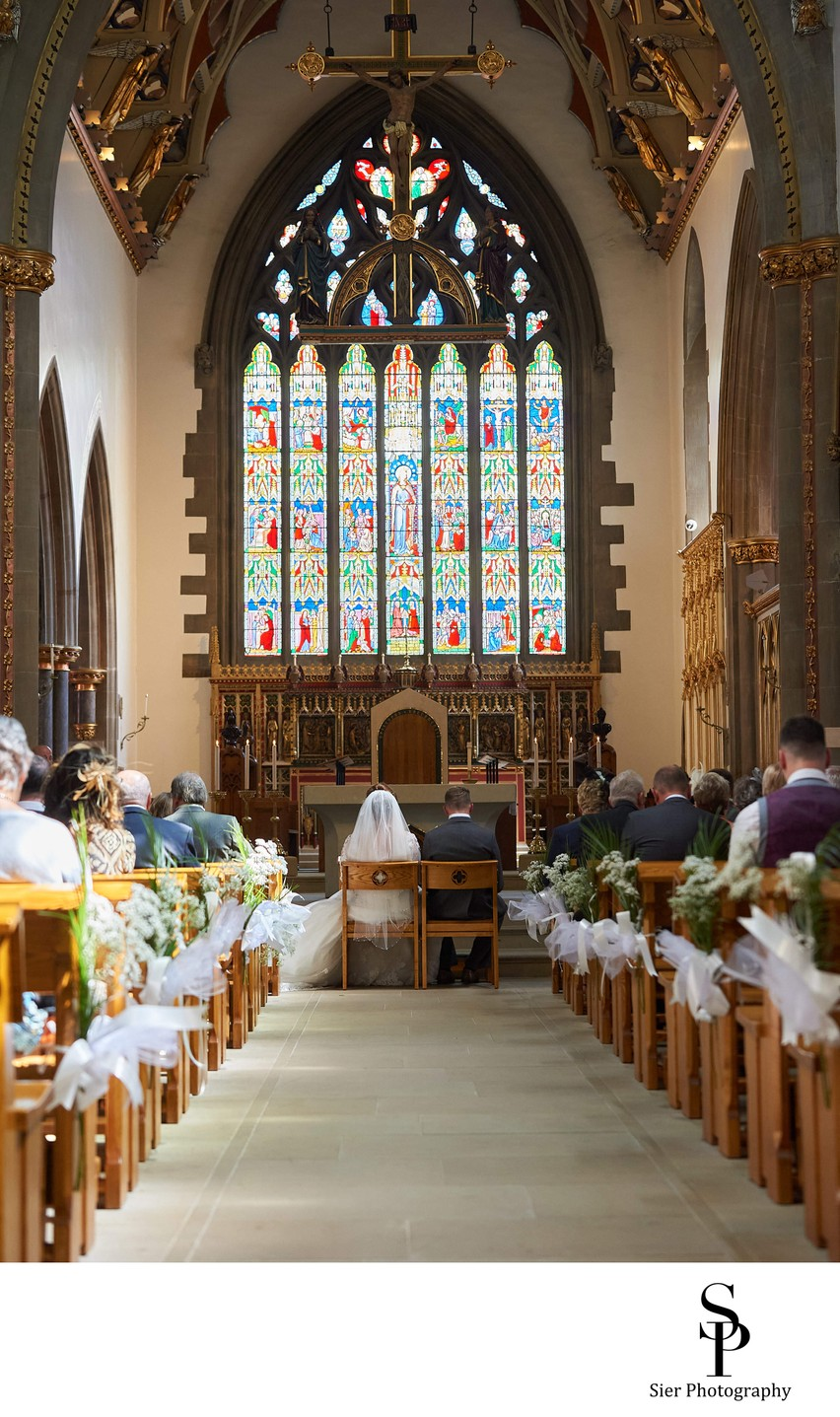 Saint Marie's Sheffield Cathedral Wedding Ceremony