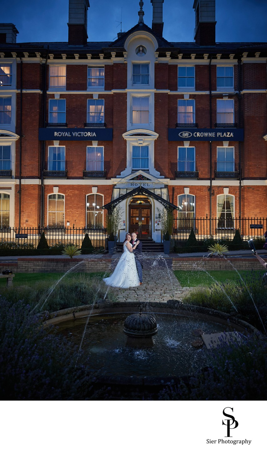 Bride and Groom at the Royal Victoria Hotel Sheffield