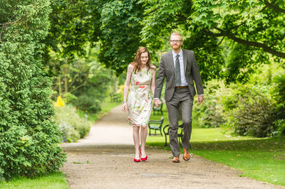 Sheffield Botanical Gardens Engagement Picture