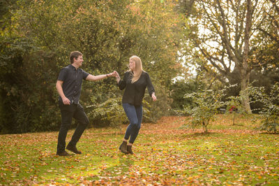 Botanical Gardens Sheffield Autumn Engagement