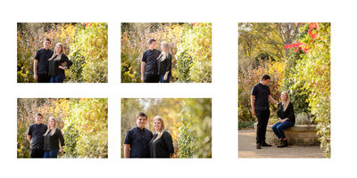Summer Botanical Gardens Engagement Photography