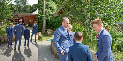 Groomsmen Ready at Ecclesall Woods Sheffield Wedding