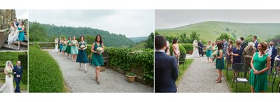 Here Comes The Bride at Cressbrook Hall