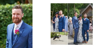 Groom Arrives at Woodland Discovery Centre Wedding
