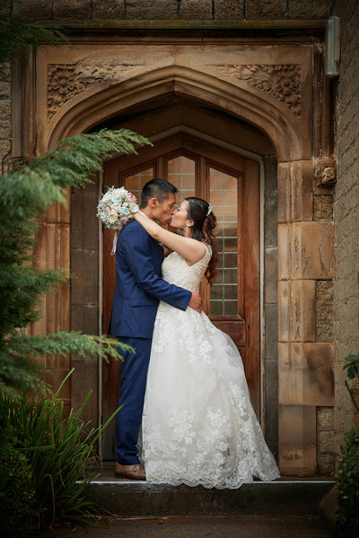 Kiss in the Doorway at Kenwood Hall Hotel Sheffield