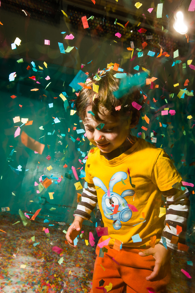 toddler yellow tshirt confetti