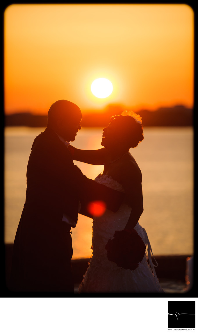 Sunset Wedding Photography Maryland Gaylord Resort