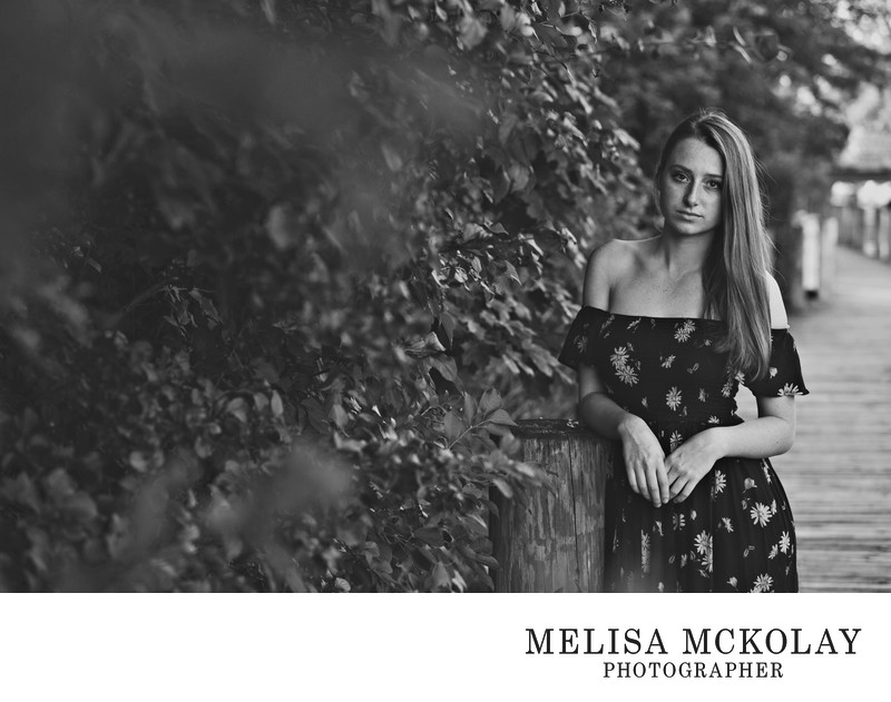 Mood | BW High School Senior Portrait Photography | TC