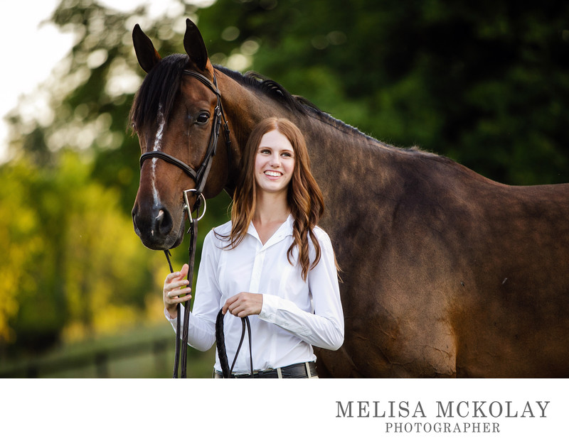 Equestrian High School Senior Portrait Session | TC