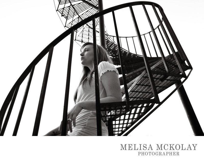 Brianna | BW Fine Art High School Senior Portrait | TC