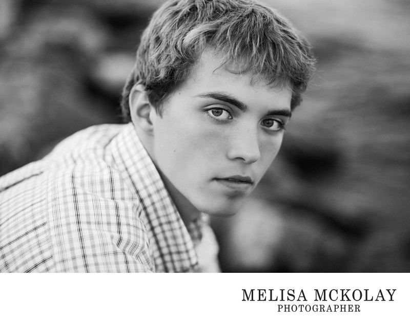 Brandon | BW High School Senior Portrait Session | TC