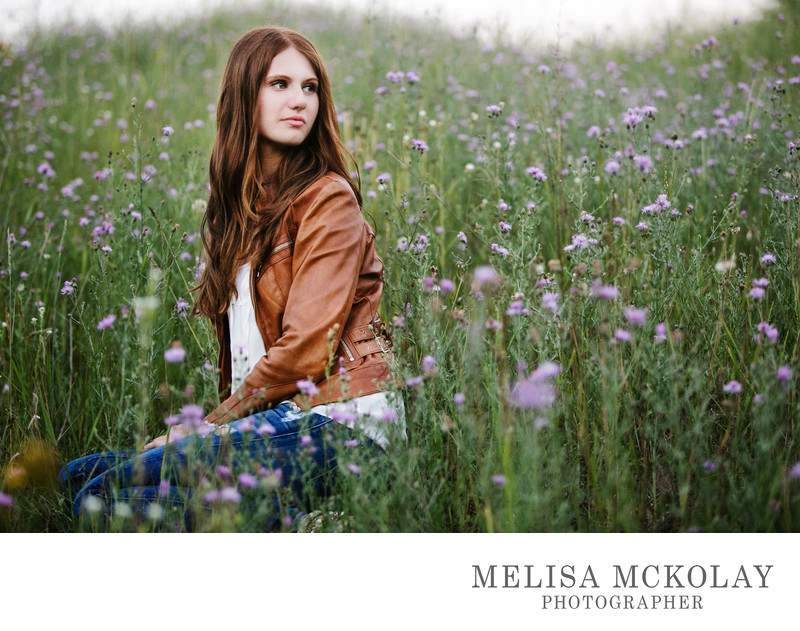 Wildflower | High School Senior Portrait Session | TC