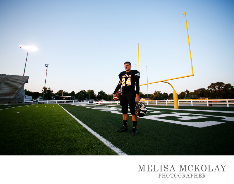Friday Night Lights | TC West Football Senior Portrait