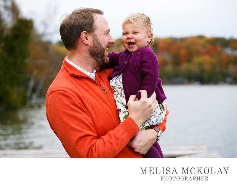 You're Funny Dad | Daddy Daughter Portrait | Cedar Lake