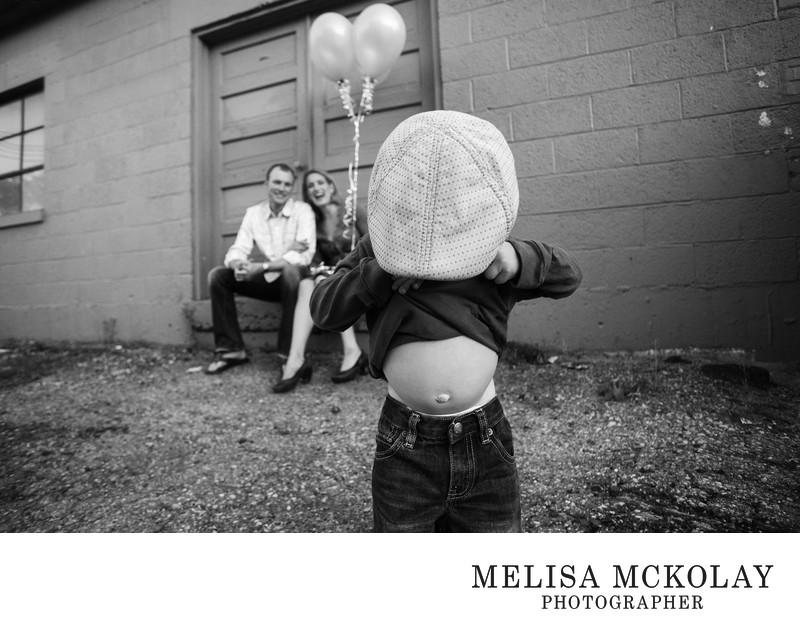 Where's Your Belly? | Urban Family Portrait | TC, MI