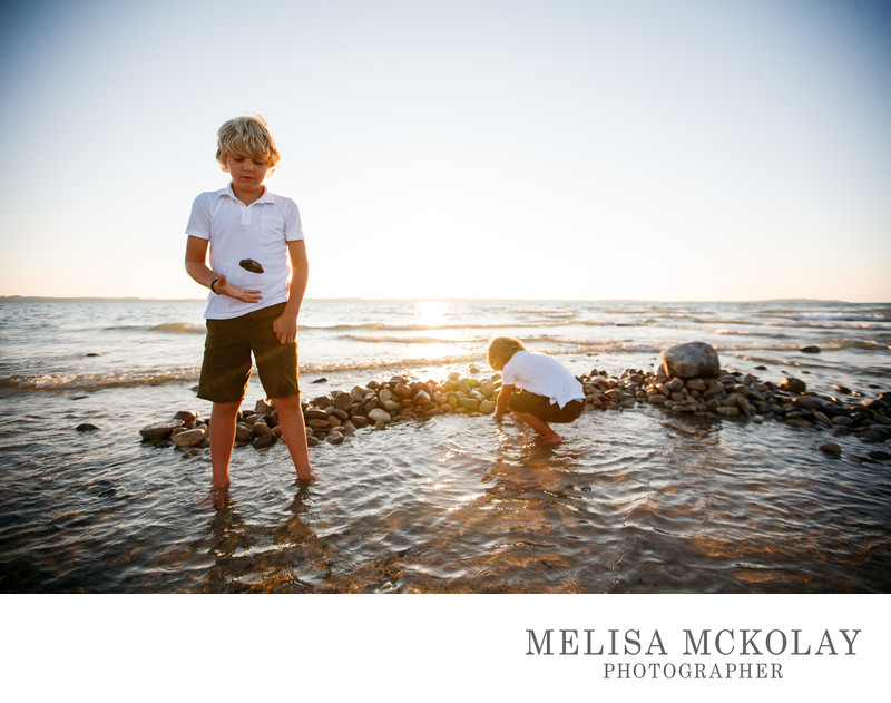 Boys & Rocks | Family Photojournalism | Northern Mi