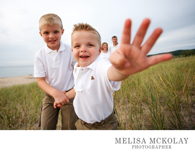 In Your Face | Family Photography | Lake Michigan
