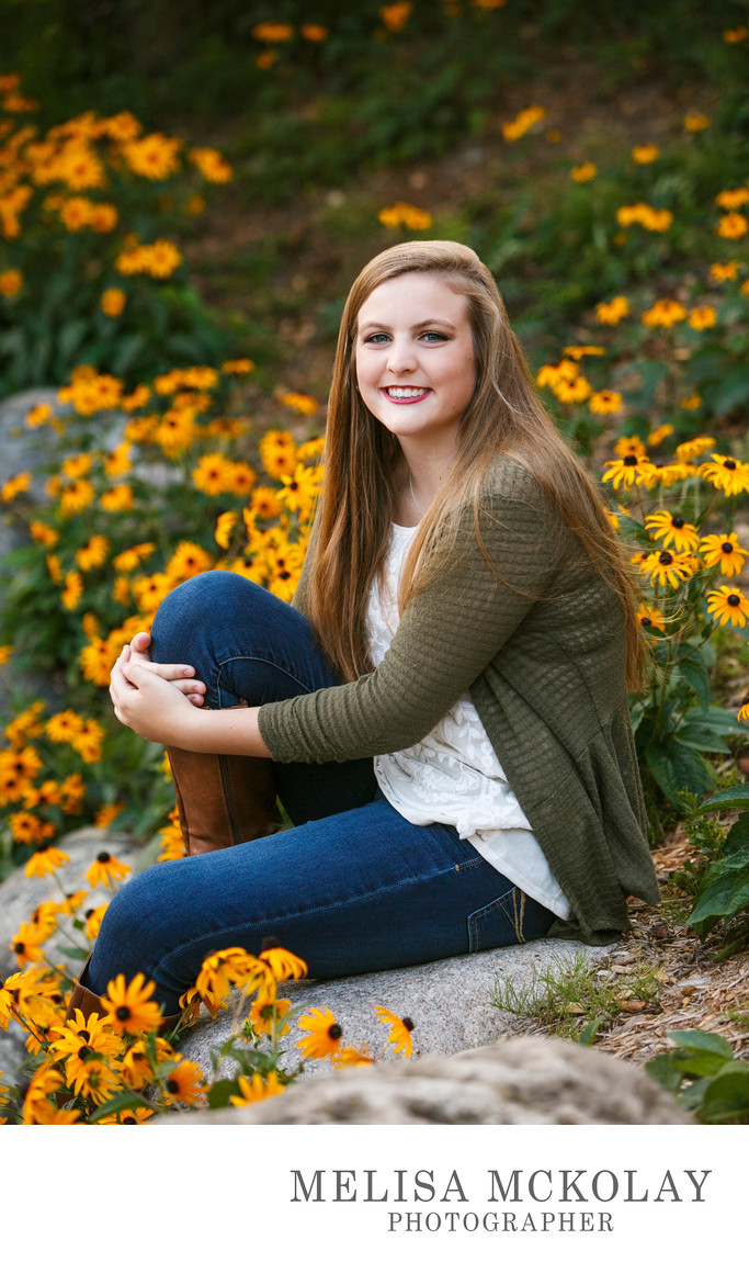 Amanda | Outdoor Garden High School Portrait l NMi