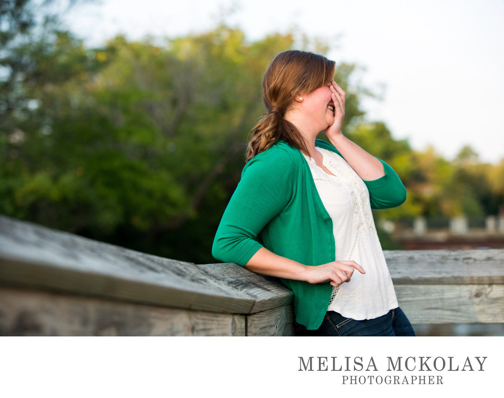 Cracking Up | High School Senior Portrait | Northern Mi