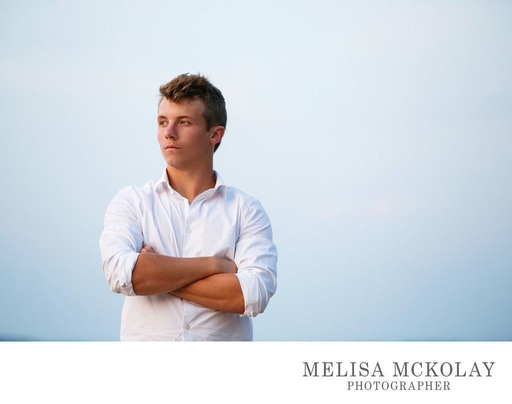 Tough Guy | High School Senior Portrait | Northern Mi