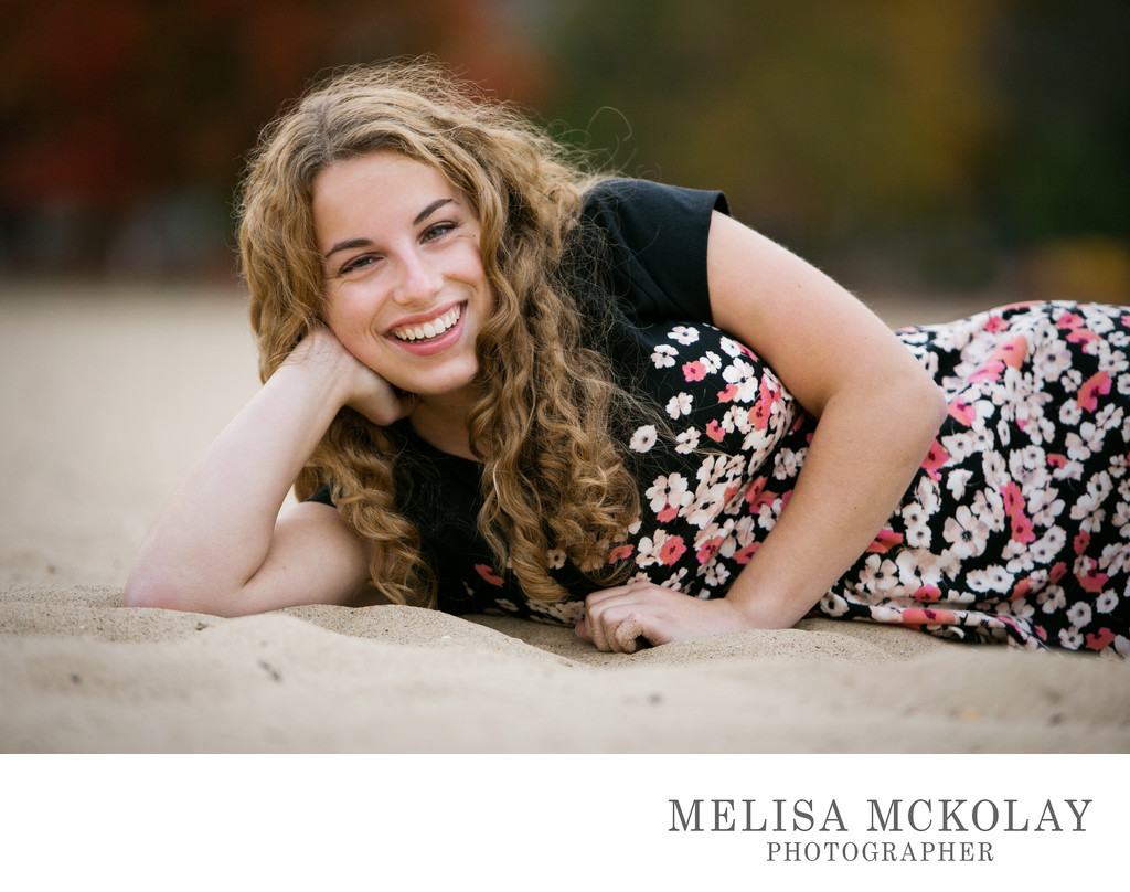 Emma | High School Senior Beach Portrait Session | TC