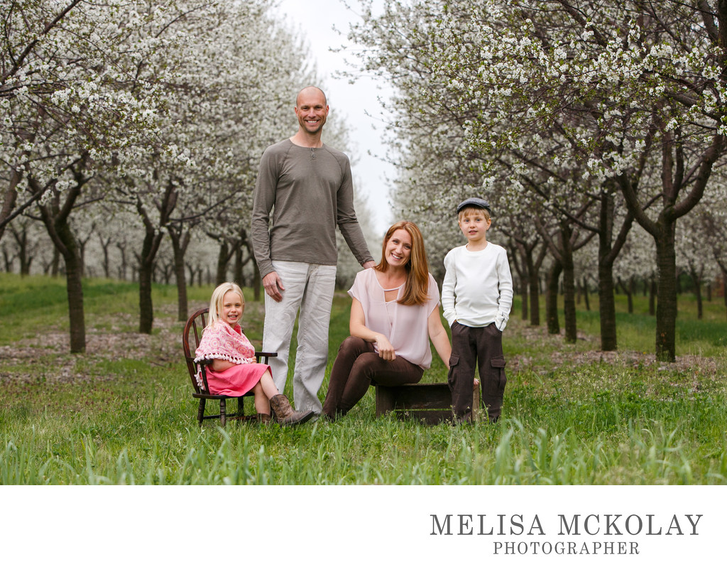 Stylized | Spring Family Portrait | Leelanau County
