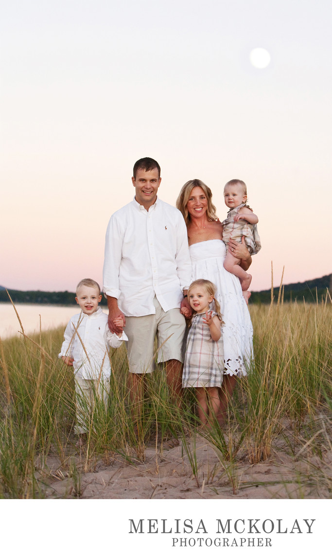 Moon Rise | Family Beach Session | Lake Michigan