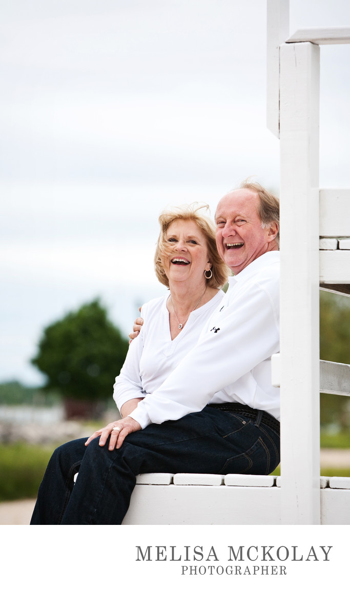 Belly Laughs | Grandparents Portrait | Lake Charlevoix