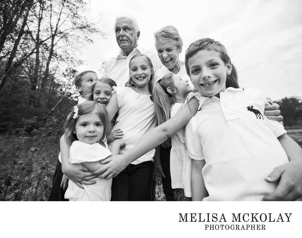 Group Hug | Grandparents Family Photo | Traverse City