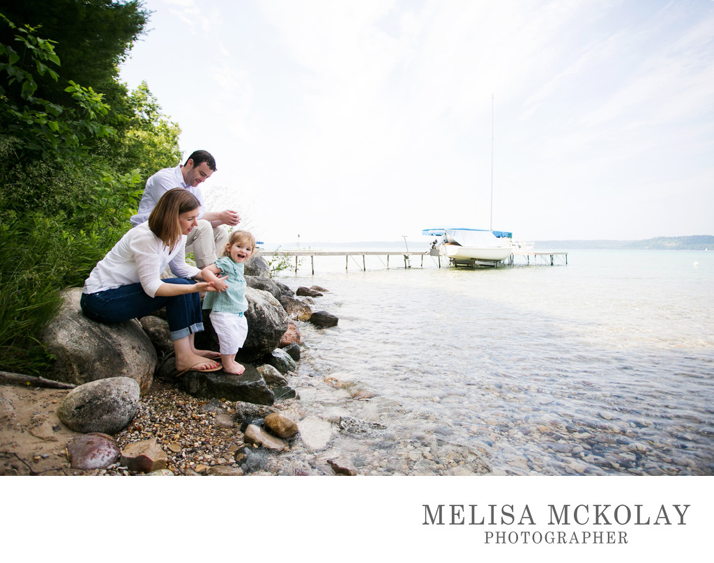 She Loves The Water | Family Portrait | Northern Mi