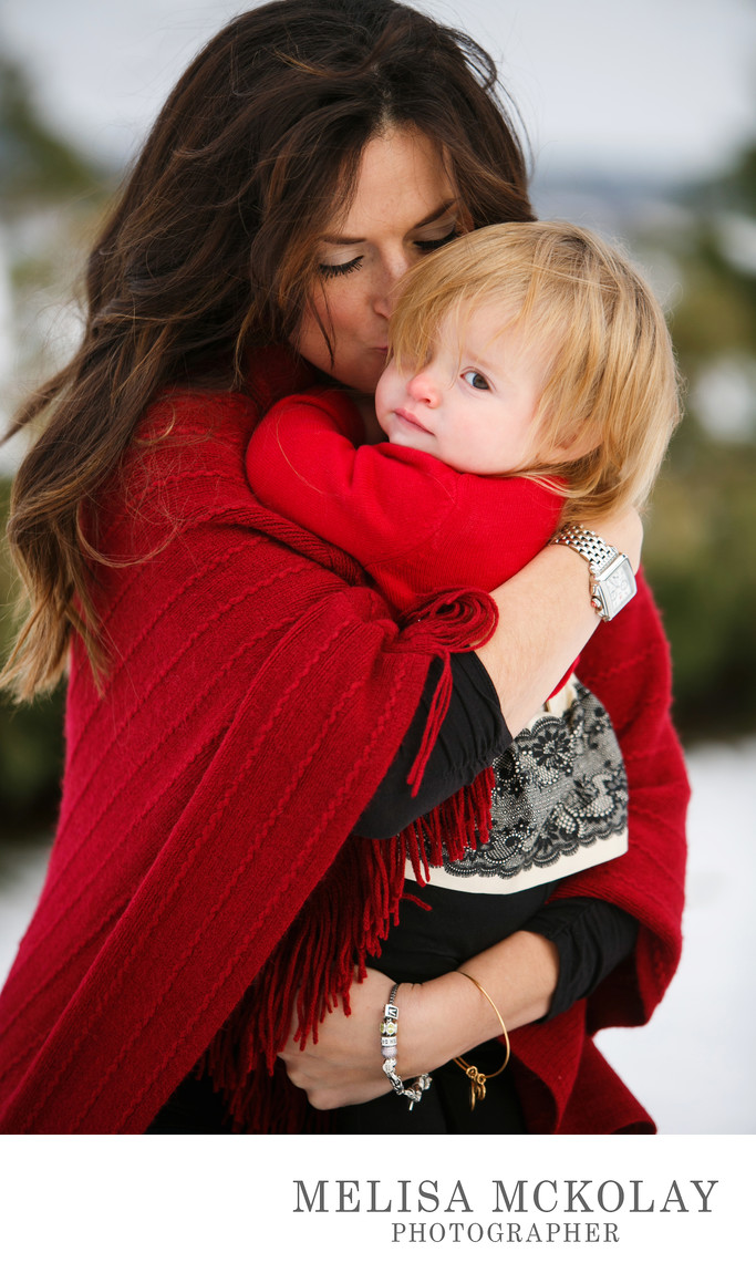 Safe & Warm | Mother Daughter Portrait | Traverse City