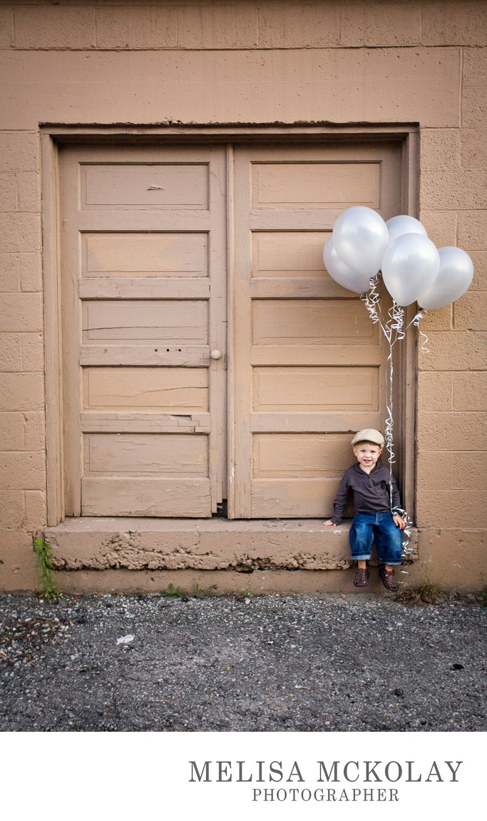 Birthday Balloons | Urban Kids Portrait | Downtown TC