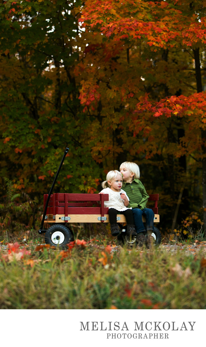 Fall Wagon Ride | Documentary Child Photographer | TC