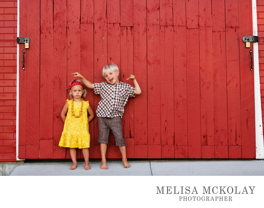 Opposites | Sibling Family Portrait | Leelanau Co