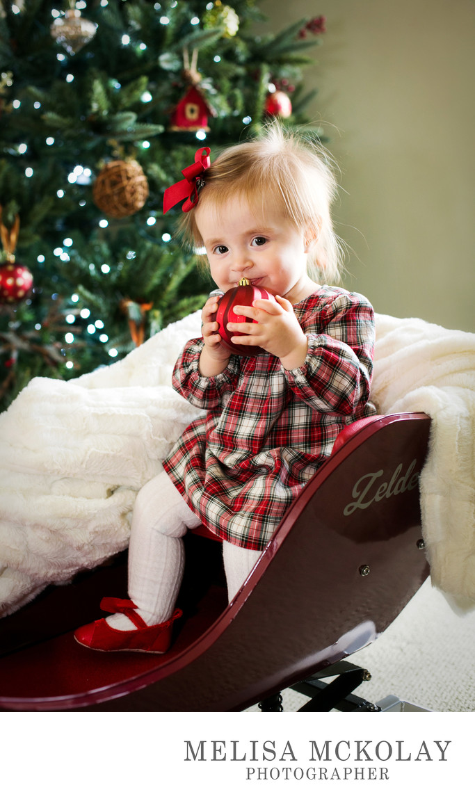 Merry Christmas Baby | Holiday Portrait Session | TC