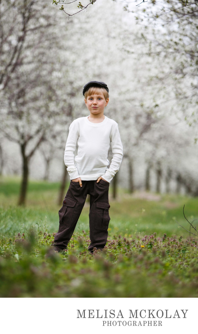 Newsboy | Spring Child Portrait | Leelanau County
