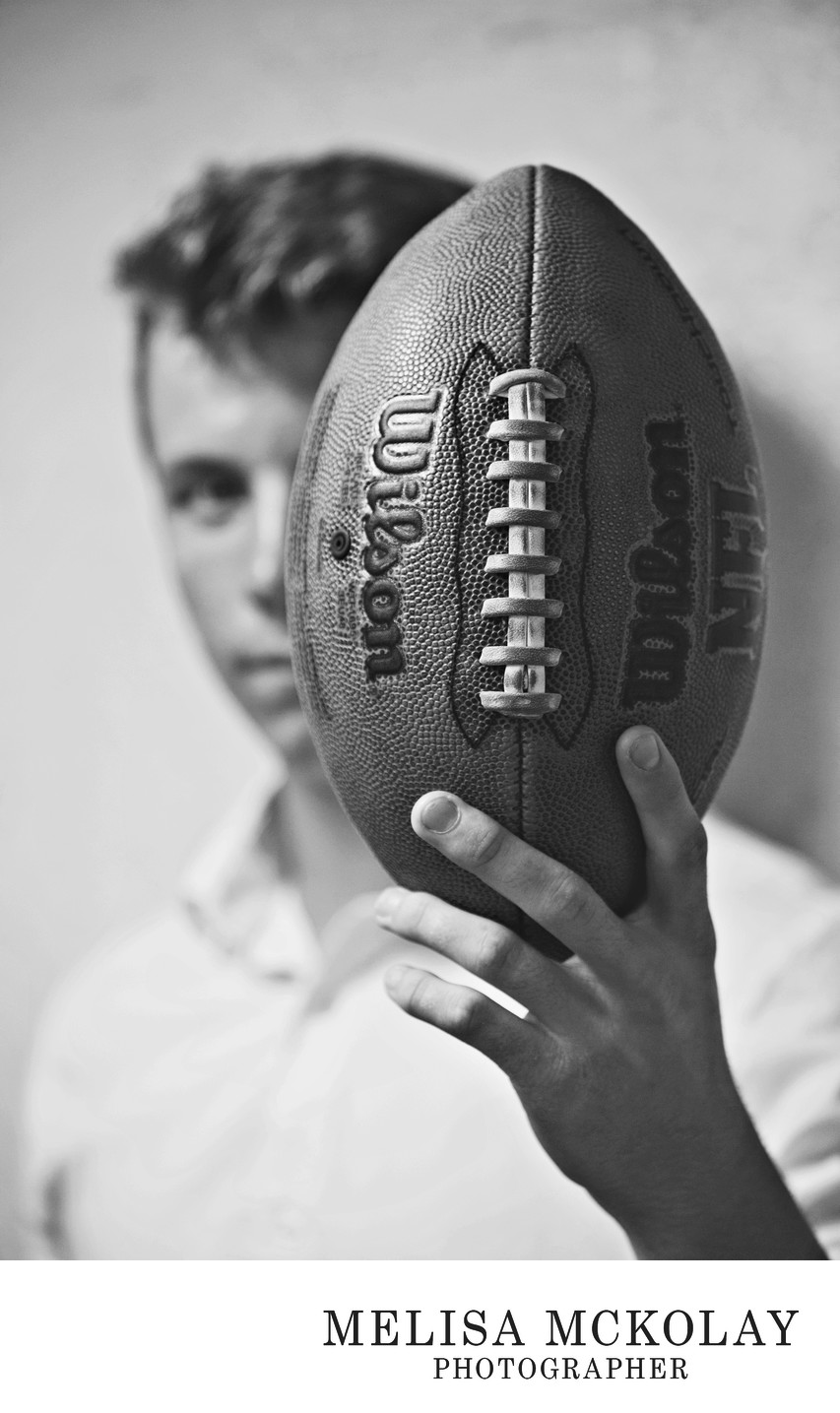 Football | BW Original Senior Portrait Session | TC