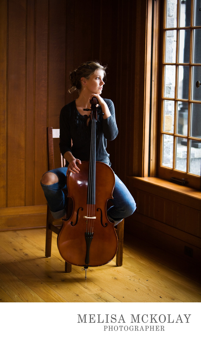 Cello Style | High School Senior Musician Portrait