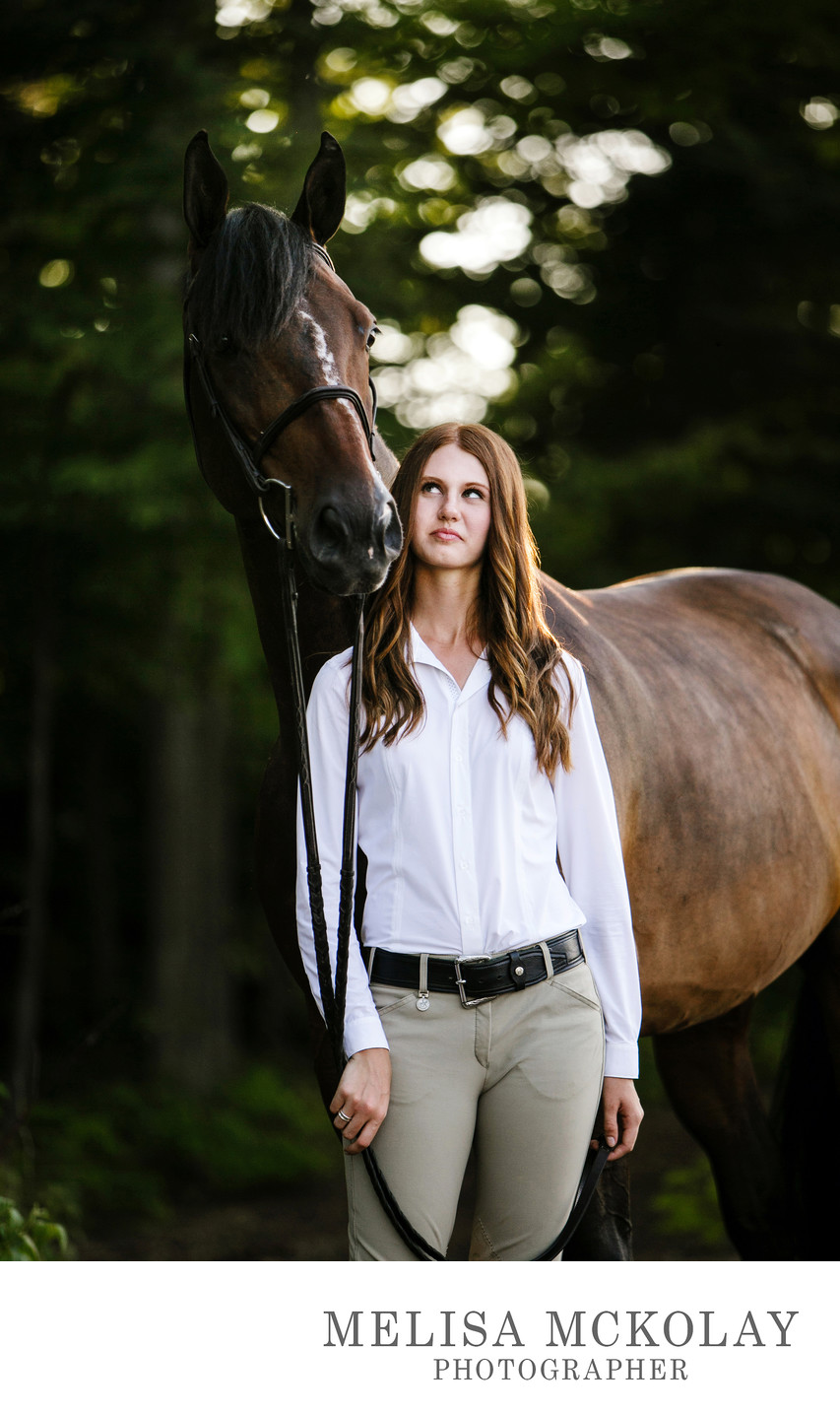 Be Good | Equestrian High School Senior Portrait | TC