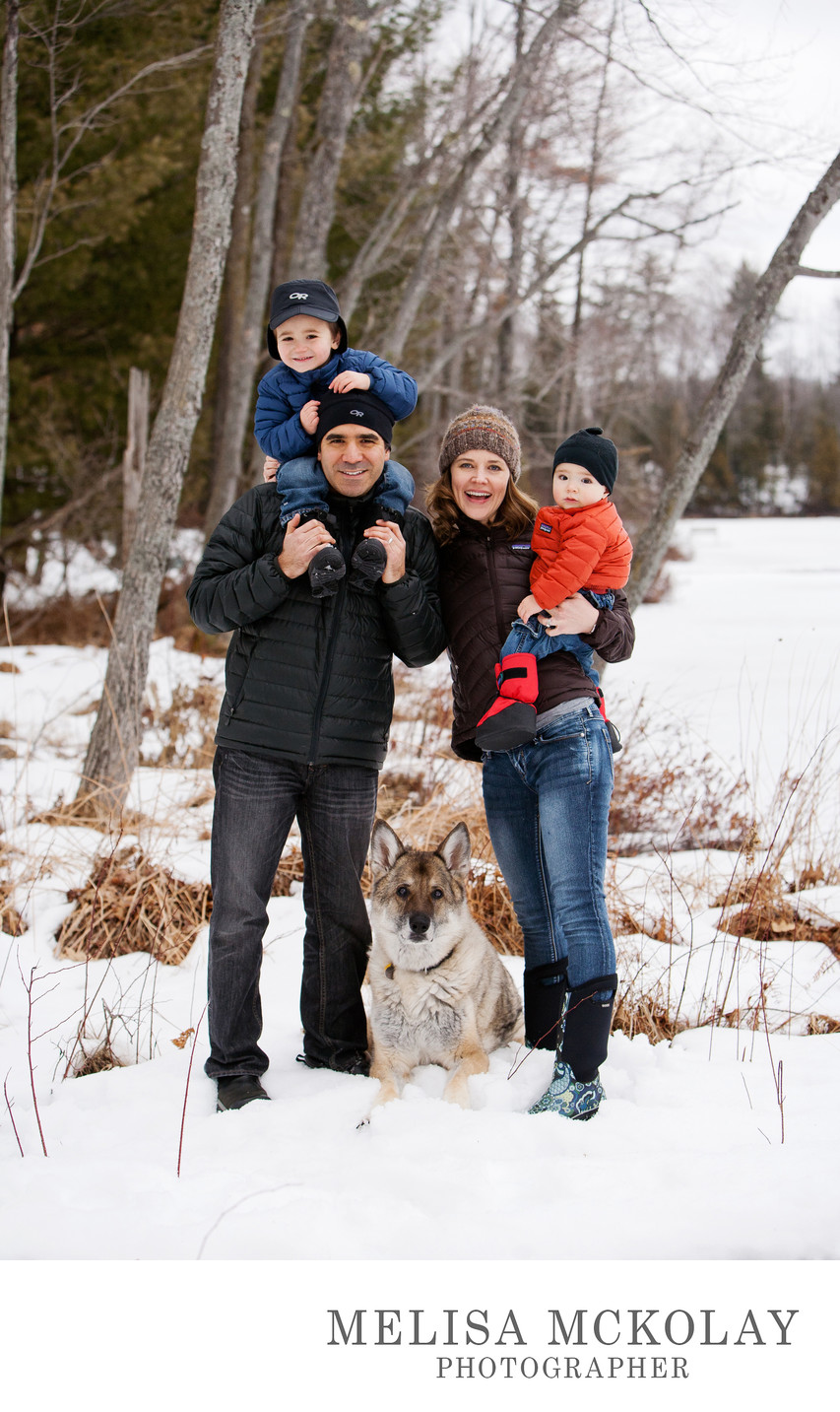 Winter At The Lake | Outdoor Family Portrait | NMI