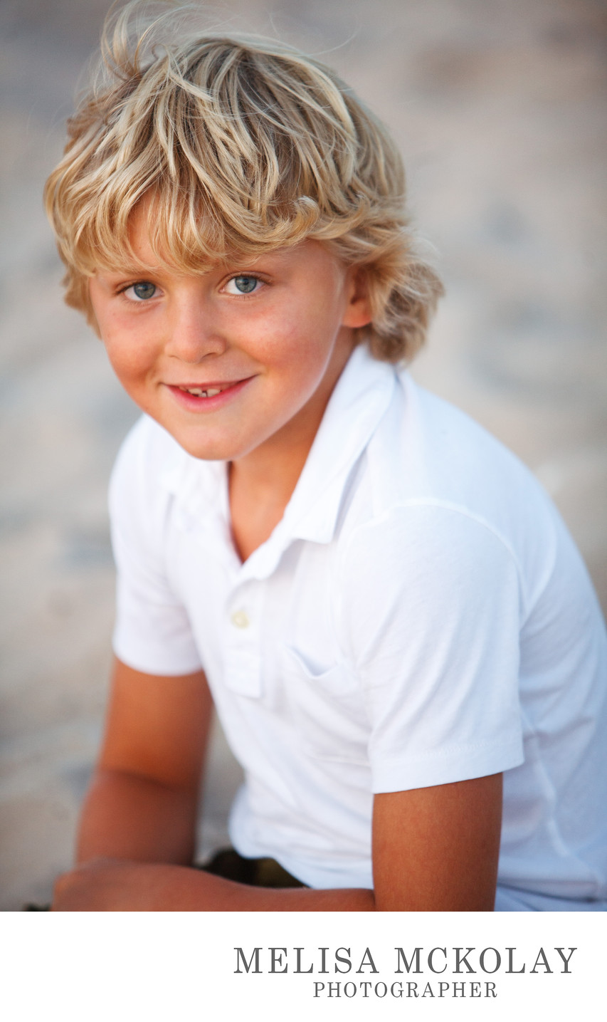Beach Blonde | Outdoor Child Portrait Photography | TC