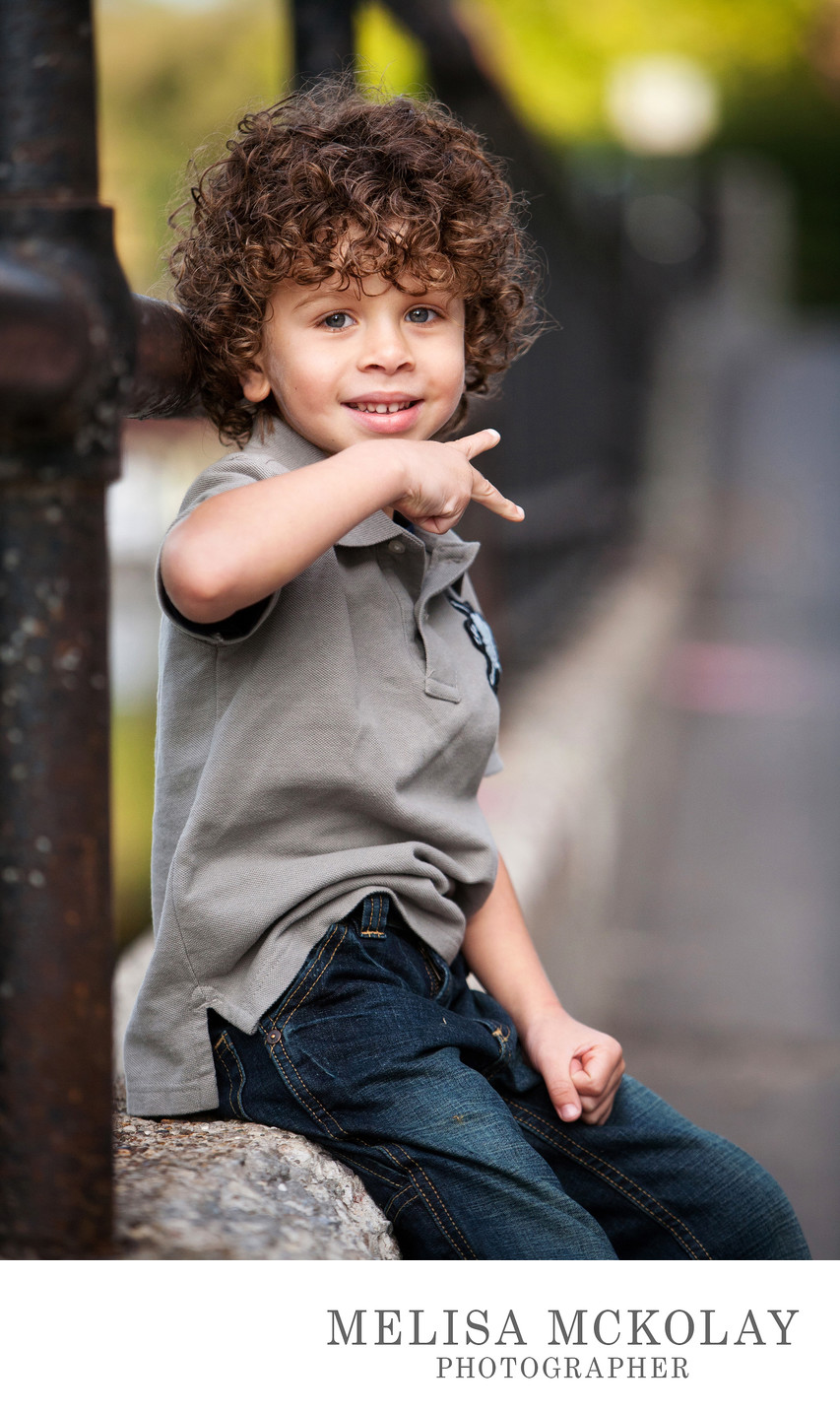 Peace! | Fun Child Portrait | Downtown Traverse City