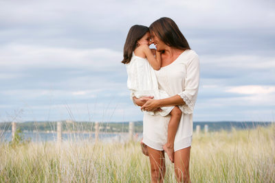 Beautiful Girls | Mother Daughter Portrait | Glen Arbor