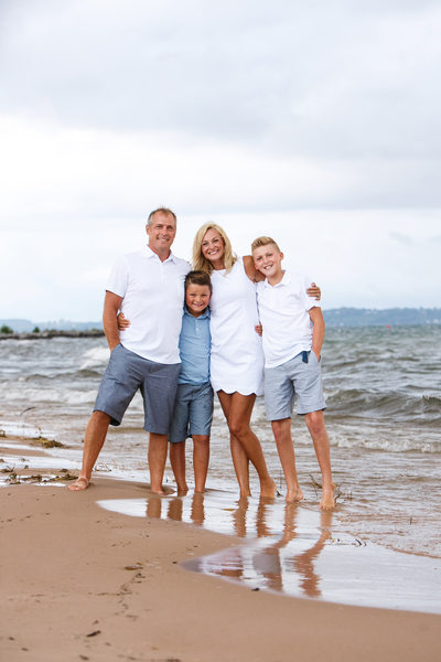 Feet in the Bay | Family Portrait | Elk Rapids, MI