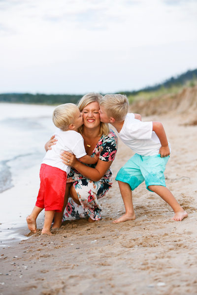 Sweet Boys | Mother Son Portrait | Leelanau County
