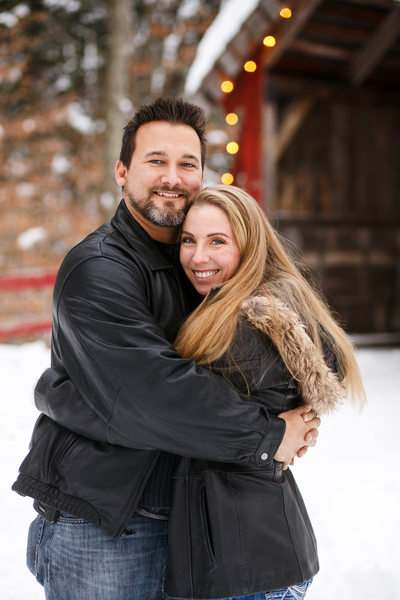 Winter Hugs | Holiday Couples Portrait | TC, Mi