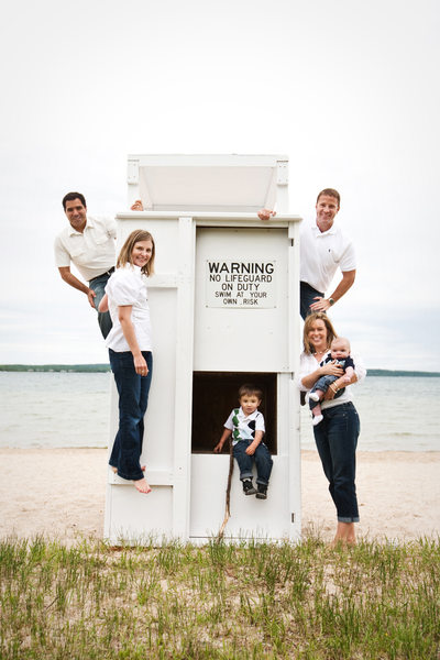 On Guard | Unique Family Portraits | Lake Charlevoix