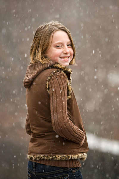 Winter Smiles | Holiday Child Portrait | TC, Mi