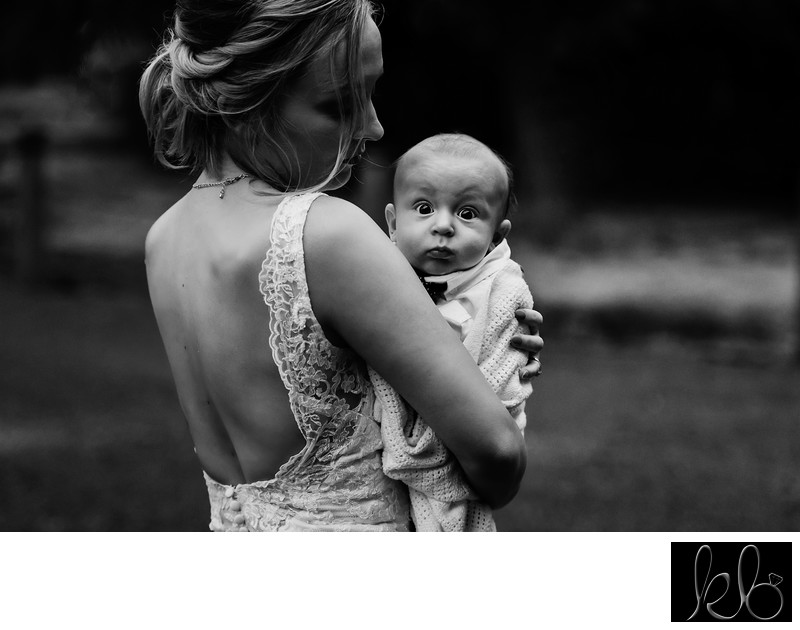Bride and Her Baby At Wedding in Lantzville