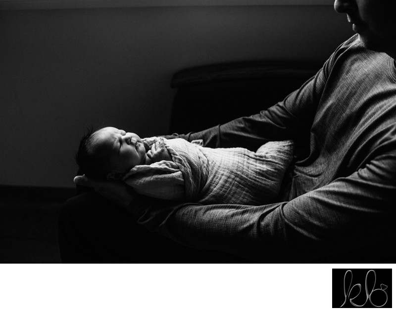 Father and Daughter Newborn Session